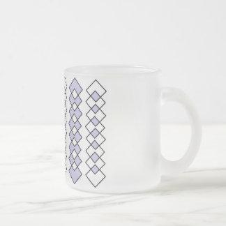 Arte helado de la taza del vidrio esmerilado de 10
