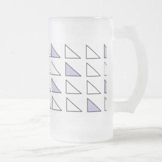 Arte helado de la taza del vidrio esmerilado de 16