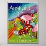 Arte histórico Australia del viaje de los posters