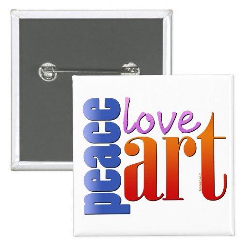 Arte II del amor de la paz Pins