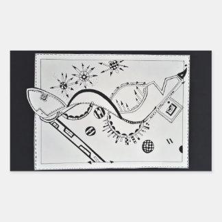 Arte Illustation del zapato de SieCel en el Pegatina Rectangular