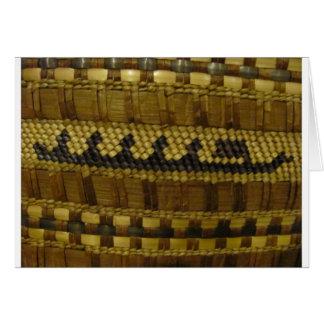 Arte indio tejido de la fibra de la costa del nano tarjeta de felicitación
