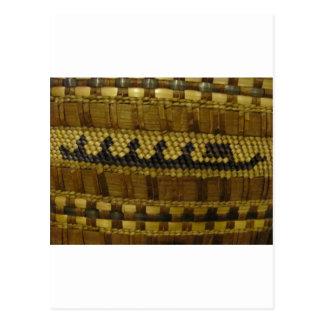 Arte indio tejido de la fibra de la costa del nano postales