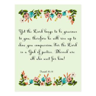 Arte inspirado cristiano - 30:18 de Isaías Postal