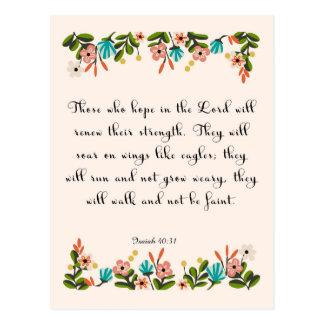 Arte inspirado cristiano - 40:31 de Isaías Postal