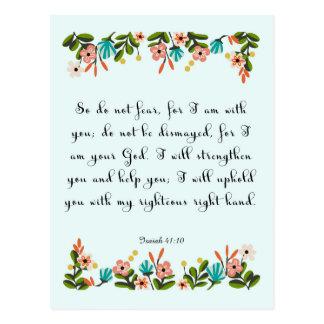 Arte inspirado cristiano - 41:10 de Isaías Postal
