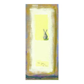 Arte inspirado él debe saber el conejo de conejito invitación 10,1 x 23,5 cm
