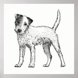 Arte Jack Russell Terrier del poster/de la pared