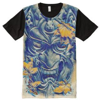 Arte japonés de la fantasía del demonio del agua camiseta con estampado integral