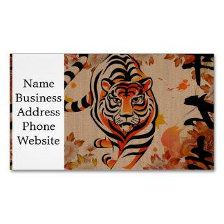 arte japonés del tigre tarjeta de visita magnética