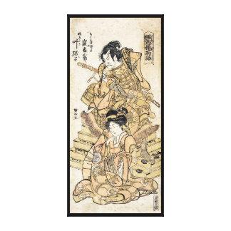 Arte japonés fresco del guerrero del samuraj del