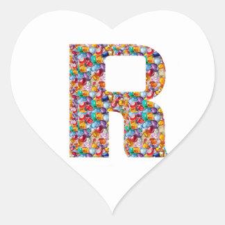 Arte Jewelled RRR para la ALFA R: Grandes regalos Pegatina En Forma De Corazón