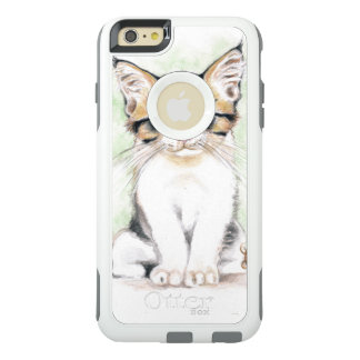 Arte lindo de la acuarela del Tabby Funda Otterbox Para iPhone 6/6s Plus