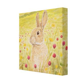 Arte lindo de la lona del conejo