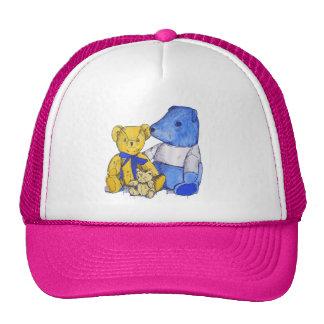 Arte lindo de la vida de tres todavía osos de gorras
