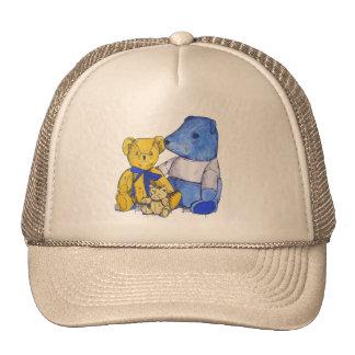 Arte lindo de la vida de tres todavía osos de gorras de camionero