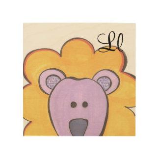 Arte lindo del panel del león - L está para el