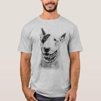 Arte lindo del perro de bull terrier camiseta