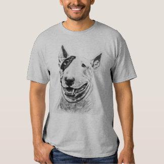 Arte lindo del perro de bull terrier camisetas