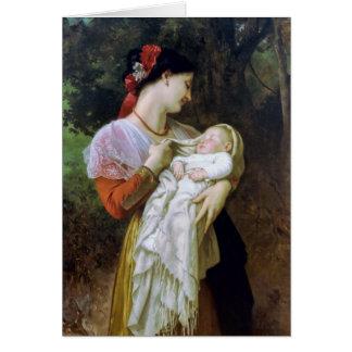 Arte maternal del vintage de la adoración tarjeta de felicitación