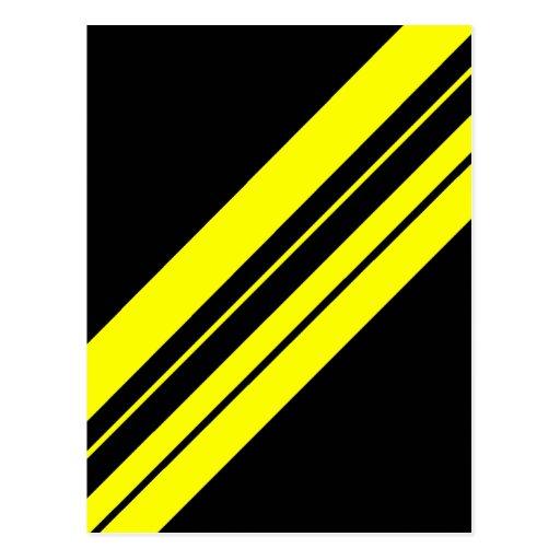Arte minimalista amarillo de 45 grados postal