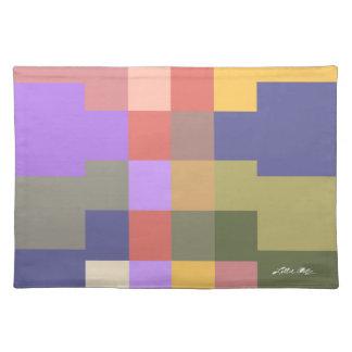 Arte moderno 2 del arco iris mantel individual