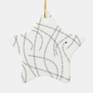 Arte moderno - cadena ornamento para arbol de navidad