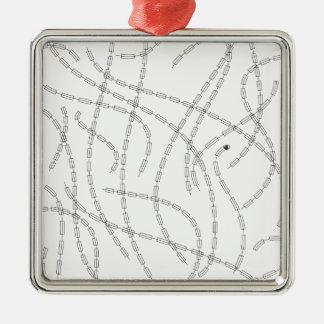 Arte moderno - cadena ornamentos de navidad