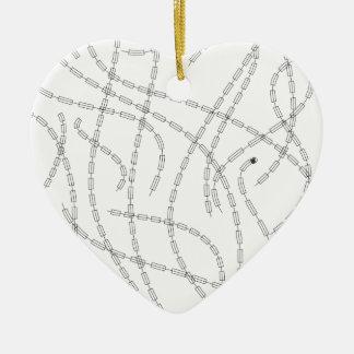 Arte moderno - cadena adorno navideño de cerámica en forma de corazón