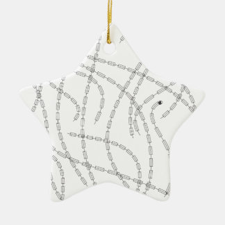 Arte moderno - cadena adorno navideño de cerámica en forma de estrella