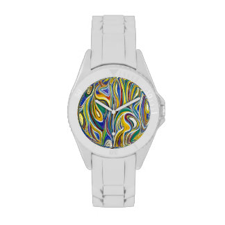 Arte moderno colorido reloj