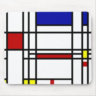 Arte moderno de Mondrian Alfombrilla De Ratón