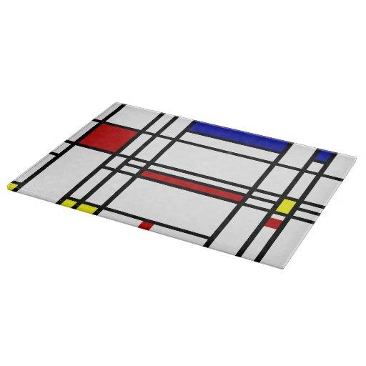 Arte moderno de Mondrian Tablas Para Cortar