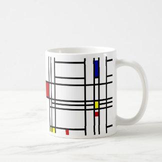 Arte moderno de Mondrian Taza Básica Blanca
