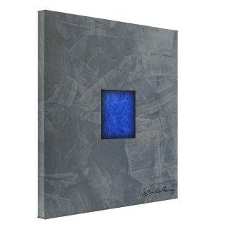Arte moderno del azul de cobalto del gris de