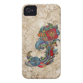 Arte moderno del extracto floral de los rizos iPhone 4 cárcasas