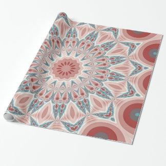 Arte moderno llamativo del fractal de la mandala papel de regalo