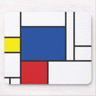 Arte moderno minimalista de Mondrian de Stijl Alfombrilla De Ratón