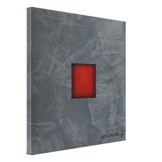 Arte moderno rojo dramático del gris de pizarra