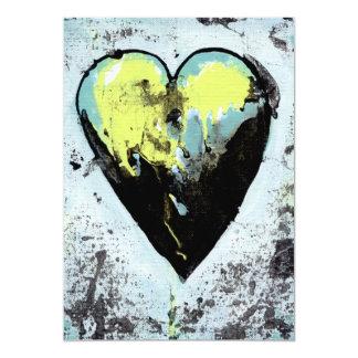 Arte moderno romántico oscuro áspero magnífico del invitación 12,7 x 17,8 cm