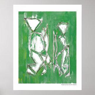 Arte moderno verde amistoso de Eco de los pares