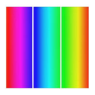 Arte multicolor de la pared del tríptico de las