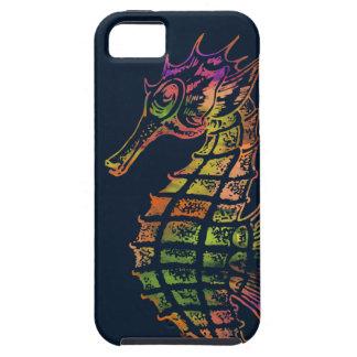 Arte muy colorido del seahorse funda para iPhone SE/5/5s