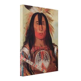 Arte nativo 1832 de la lona de la tribu de la impresión en tela