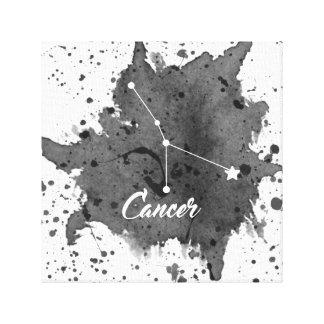 Arte negro de la pared del cáncer