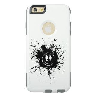 arte negro del punto de la cara de la sonrisa funda otterbox para iPhone 6/6s plus