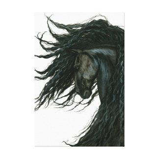 Arte negro frisio del caballo de DreamWalker por