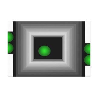 Arte negro verde gris 3a de la lona de la ilusión impresiones de lienzo