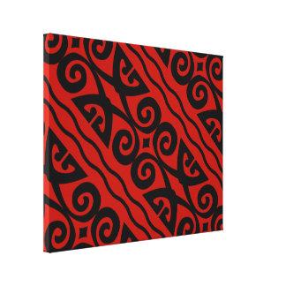 Arte negro y rojo moderno elegante de la pared de impresion de lienzo