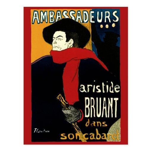 Arte Nouveau, Aristide Bruant, Ambassadeurs del vi Tarjeta Postal